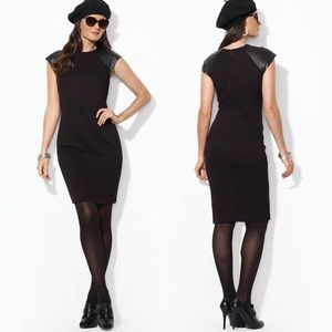 Ralph Lauren black cap Sleeve dress